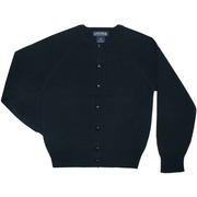 Girls School Uniform Cardigan By Universal Uniform is a Quality Sweater with Navy Front Buttons in Sizes 7/8, 10/12, 14/16